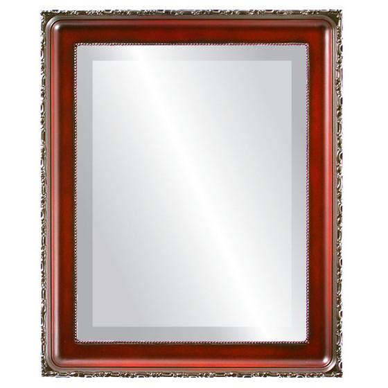 Beveled Mirror - Kensington Rectangle Frame - Rosewood