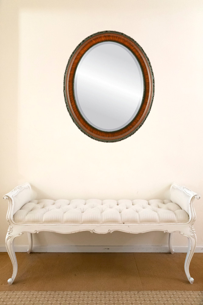 Antique Brown Oval Mirrors from $136   Free Shipping