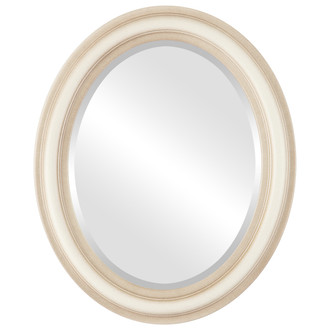 Beveled Mirror - Philadelphia Oval Frame - Taupe