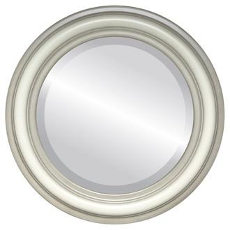 Beveled Mirror - Philadelphia Round Frame - Taupe