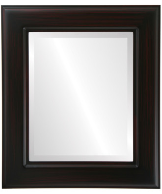 Beveled Mirror - Marquis Rectangle Frame - Black Cherry