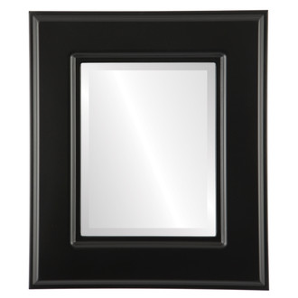 Beveled Mirror - Marquis Rectangle Frame - Matte Black