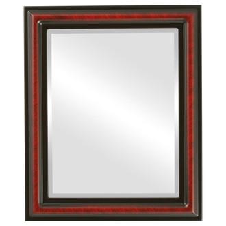 Beveled Mirror - Philadelphia Rectangle Frame - Vintage Cherry
