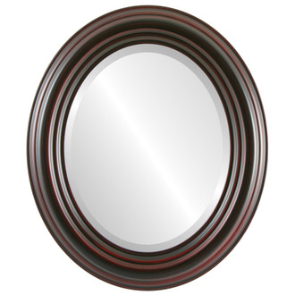 Beveled Mirror - Regalia Oval Frame - Black Cherry