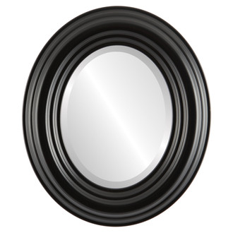 Beveled Mirror - Regalia Oval Frame - Matte Black