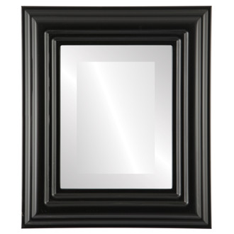 Beveled Mirror - Regalia Rectangle Frame - Matte Black