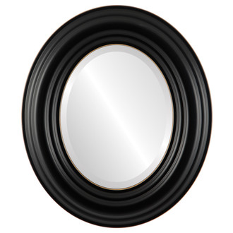 Beveled Mirror - Regalia Oval Frame - Rubbed Black