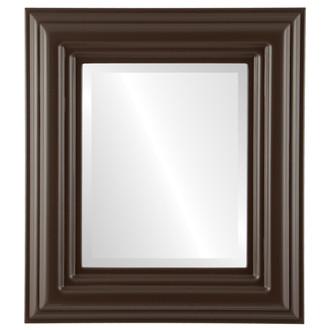 Beveled Mirror - Regalia Rectangle Frame - Stone Brown