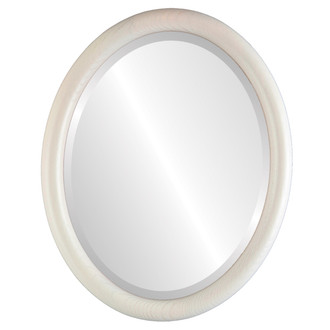Beveled Mirror - Sydney Oval Frame - Country White