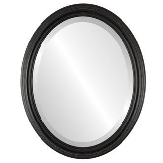 Beveled Mirror - Melbourne Oval Frame - Matte Black