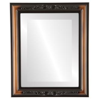 Beveled Mirror - Florence Rectangle Frame - Walnut