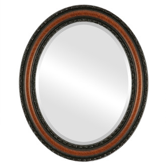 Beveled Mirror - Dorset Oval Frame - Vintage Walnut