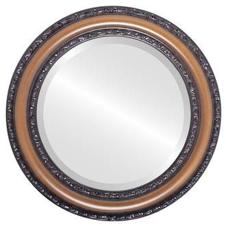 Beveled Mirror - Dorset Round Frame - Walnut