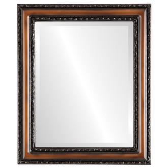 Beveled Mirror - Dorset Rectangle Frame - Walnut