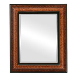 Beveled Mirror - Lancaster Rectangle Frame - Vintage Walnut