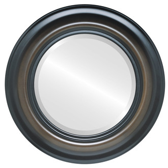 Beveled Mirror - Lancaster Round Frame - Walnut