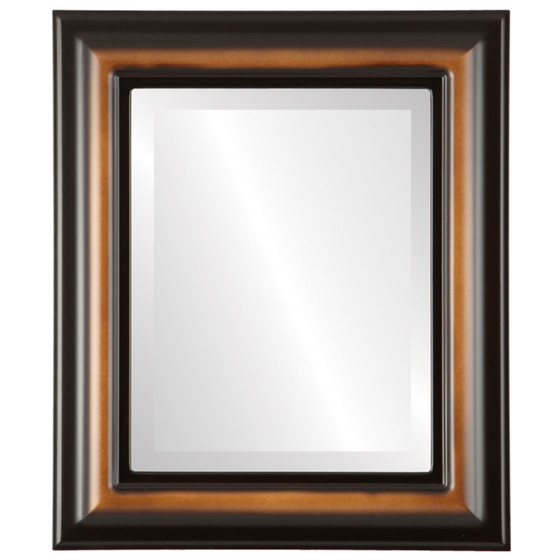 Beveled Mirror - Lancaster Rectangle Frame - Walnut