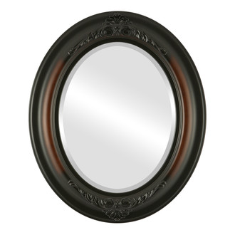 Beveled Mirror - Winchester Oval Frame - Walnut