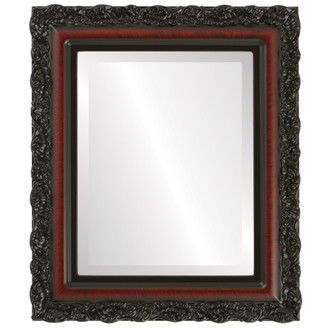 Beveled Mirror - Venice Rectangle Frame - Vintage Cherry