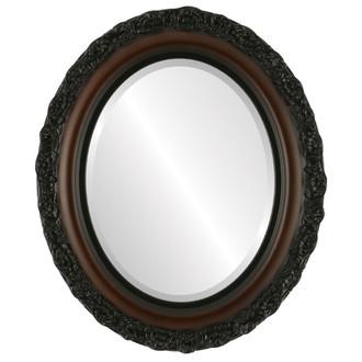 Beveled Mirror - Venice Oval Frame - Walnut