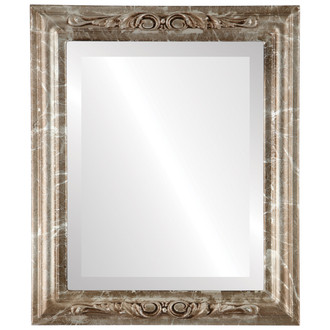 Beveled Mirror - Florence Rectangle Frame - Champagne Silver