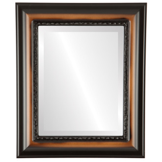Beveled Mirror - Chicago Rectangle Frame - Walnut