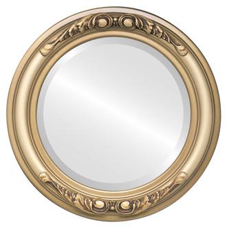 Beveled Mirror - Florence Round Frame - Desert Gold