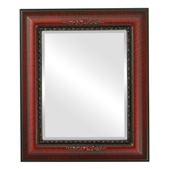 Beveled Mirror - Boston Rectangle Frame - Vintage Cherry