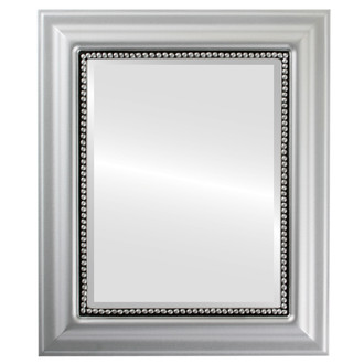 Beveled Mirror - Heritage Rectangle Frame - Silver Spray