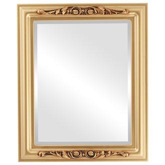 Beveled Mirror - Florence Rectangle Frame - Desert Gold