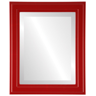 Beveled Mirror - Wright Rectangle Frame - Holiday Red
