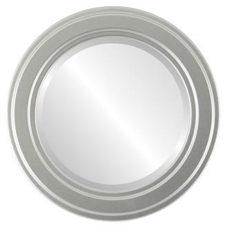Beveled Mirror - Wright Round Frame - Silver Spray