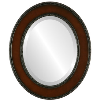 Beveled Mirror - Paris Oval Frame - Walnut