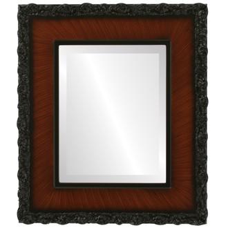 Beveled Mirror - Williamsburg Rectangle Frame - Vintage Walnut