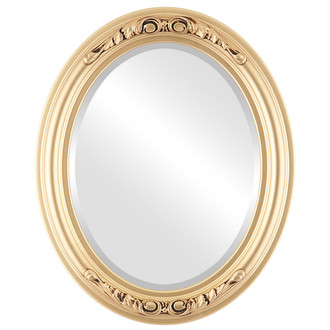 Beveled Mirror - Florence Oval Frame - Gold Spray