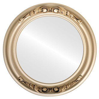 Flat Mirror - Florence Circle Frame - Gold Spray