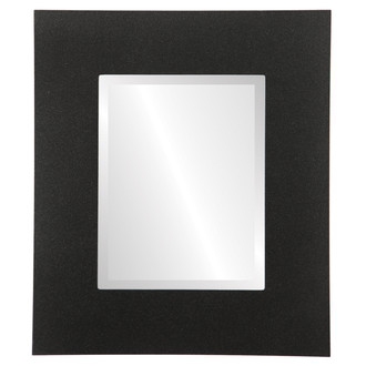 Beveled Mirror - Tribeca Rectangle Frame - Black Silver