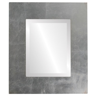 Beveled Mirror - Tribeca Rectangle Frame - Silver Leaf with Brown Antique