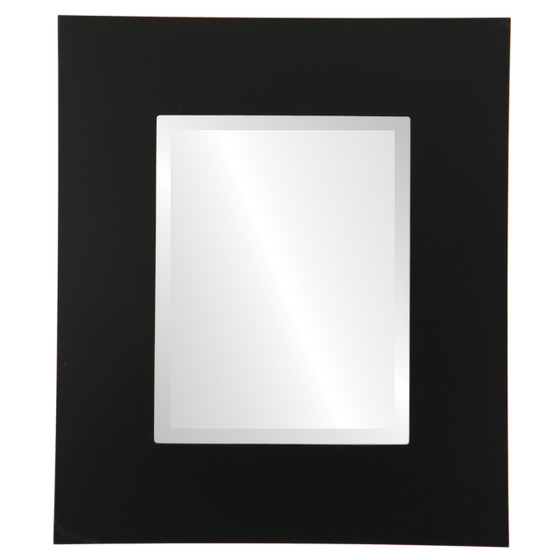 Beveled Mirror - Tribeca Rectangle Frame - Matte Black