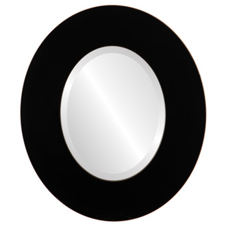 Beveled Mirror - Tribeca Oval Frame - Rubbed Black