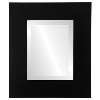 Beveled Mirror - Tribeca Rectangle Frame - Rubbed Black