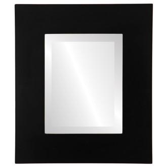 Beveled Mirror - Tribeca Rectangle Frame - Rubbed Black