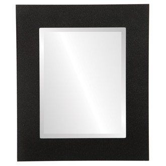 Beveled Mirror - Ashland Rectangle Frame - Black Silver
