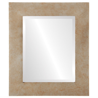Beveled Mirror - Ashland Rectangle Frame - Burnished Silver