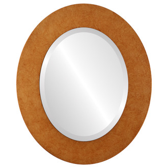 Beveled Mirror - Ashland Oval Frame - Burnished Gold
