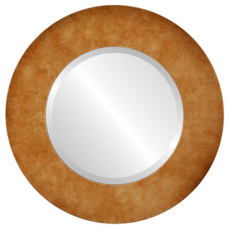 Beveled Mirror - Ashland Round Frame - Burnished Gold