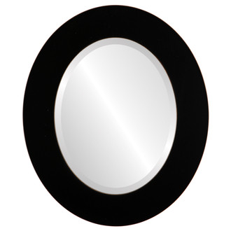 Beveled Mirror - Ashland Oval Frame - Rubbed Black