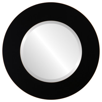 Beveled Mirror - Ashland Round Frame - Rubbed Black