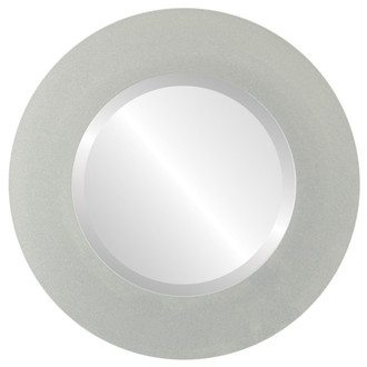 Beveled Mirror - Ashland Round Frame - Bright Silver