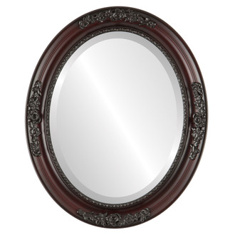 Beveled Mirror - Versailles Oval Frame - Rosewood